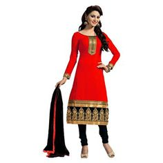 Buy Salesway Red Georgette Dress Material by salesway, on Paytm, Price: Rs.879?utm_medium=pintrest