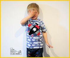 Raglanshirt kids von www.erbsenprinzessin.com genäht von Zum Nähen in den Keller
