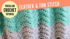 How to Make the Feather and Fan Crochet Stitch. In this video, I will show you how to make the Feather and Fan Crochet Stitch. I use this stitch in my Chunky Feather and Fan Throw (get the pattern HERE: . ) and my Feather and Fan Baby Blanket Crochet Afghans, Crochet Ripple, Tunisian Crochet, Baby Blanket Crochet, Free Crochet, Chunky Crochet, Crochet Blankets, Single Crochet, Youtube Crochet Patterns