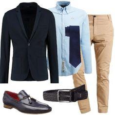 Elegante ma non troppo  outfit uomo Business Elegance per ufficio  257b8f64a56