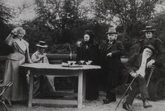 Edvard Grieg at a champagne party.
