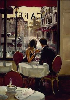 Brent Heighton //Romantic Evening I have this print, its one of my favorite paintings. Its so romantic.