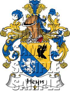 Heyn Family Crest apparel, Heyn Coat of Arms gifts