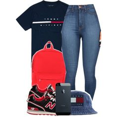 A fashion look from October 2014 featuring Hilfiger t-shirts, Herschel backpacks and Tommy Hilfiger hats. Browse and shop related looks.