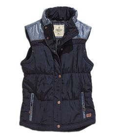 Love this Navy & Periwinkle Yoke Vest by TIMEOUT on #zulily! #zulilyfinds