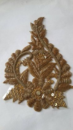 Indian handmade zardozi stone sequin bullion wire design applique denim shirt applique quilt patterns jacket applique wedding dress -Price for 01 *Price for 01 applique** PRODUCT Finish -Handmade inches inches Can Be Used on:- Handbags Purses Border Embroidery Designs, Applique Quilt Patterns, Bead Embroidery Patterns, Embroidery On Clothes, Zardosi Embroidery, Beaded Embroidery, Indian Embroidery, Embroidery Dress, Handmade Mirrors