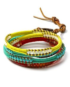 Mix Thread Five Wrap Bracelet - DIY idea