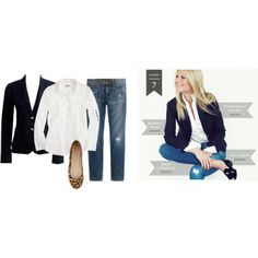 """""""Gwynyth's navy schoolboy outfit"""" by jcrewcrazy on Polyvore"""