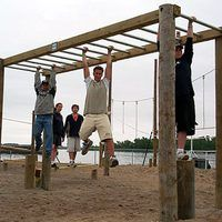 How to build monkey bars. Outside.