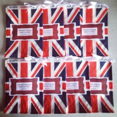 Jubilee party!!! Check out our union jack candy bags, for weddings and parties! www.vintagedreamwedding.com
