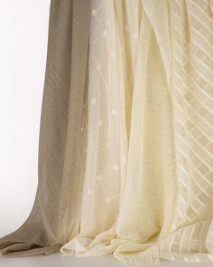 A La Mode by LebaTex. #design #interiordesignmagazine #interiordesign #products #curtains Bay Window Treatments, Design Fields, Custom Drapes, Drapery Hardware, Interior Design Magazine, Wall Organization, Wall Shelves, Yarns, Color Patterns