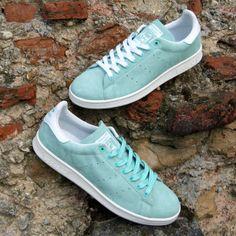 adidas originals stan smith suede - bahia mint / white