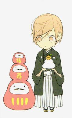 Tadomi Shirotani | Ten Count | Rihito Takarai | Chibi | Calendar Artwork | Manga | Yaoi | Bl | Merch | Lockscreen | Wallpaper | via tumblr