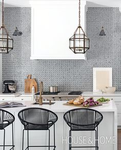 Moroccan Style Tiles  Katrina Chambers  Home Decor  Pinterest Adorable Design Tiles For Kitchen 2018