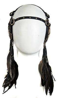 like the feathers...maybe chain instead of leather...