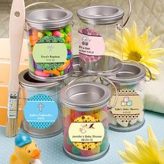 Baby Design Your Own Collection Mini Paint Cans Favors