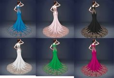 Stunning red blue black fuchsia green satin gold embroidery bust part and dress hem rhinestones beaded mermaid gold sequins lace appliques rhinestones beaded high collar capped sexy illusion sweetheart and back mermaid tulle evening prom dresses LY-227 - Prom dress - Only Love