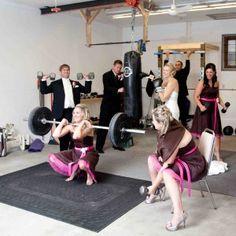 Crossfit wedding photo