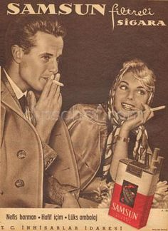 just pin it Old Advertisements, Retro Advertising, Vintage Cigarette Ads, Vintage Ads, Turkey History, Elegant Couple, Old Ads, Historical Pictures, Nostalgia
