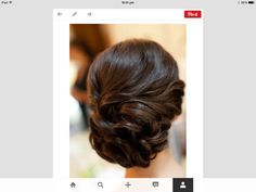 Beautiful hairdo - would look great with comb/brooch
