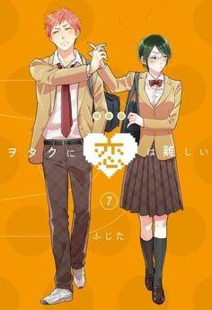 Love is hard for an otaku Otaku Anime, Manga Anime, Anime Art, Tsundere, Kasugano, Hirunaka No Ryuusei, Anime Couples Manga, Ecchi, Hard To Love
