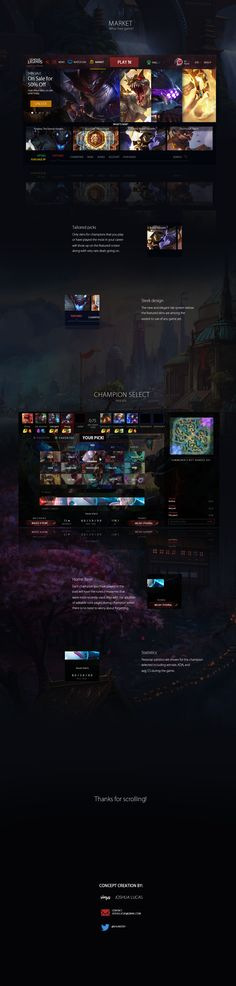 League of Legends Client Re-design on Behance
