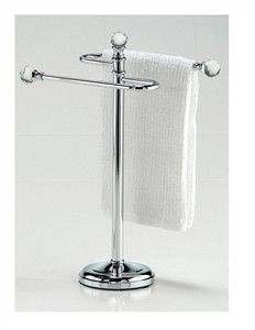 Hand Towel Holder Stand Rack Metal Bath Room Free Standing