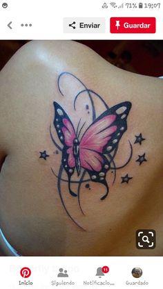 28 New Ideas Tattoo Butterfly Design Tatoo Tatuajes Tattoos, Up Tattoos, Body Art Tattoos, Girl Tattoos, Sleeve Tattoos, Tattoos For Women, Tattoos For Guys, Tatoos, Purple Butterfly Tattoo
