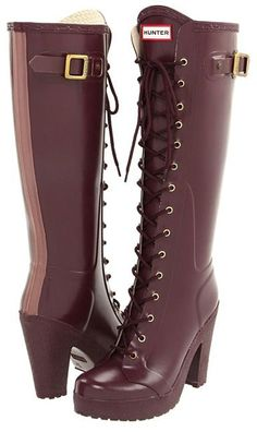 high heel Hunter boots