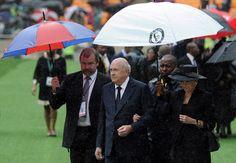 Credit: Stephane De Sakutin/AFP/Getty Images Former South African apartheid-era president Frederik Willem de Klerk arrives