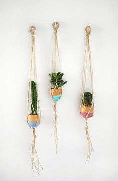 Make Your Own Mini Macrame Succulent Egg Decorations for Easter - Tuts+ Crafts  DIY Tutorial