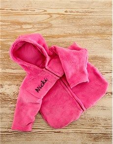 New Baby Gift: Personalised Pink Fleece Baby Sleeping Jacket! Best Baby Gifts, Personalized Baby Gifts, Baby Online, New Parents, Baby Names, New Baby Products, Jacket, Amazing, Pink