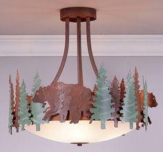 Crestline Bear Ext. Semi Flush Ceiling Light
