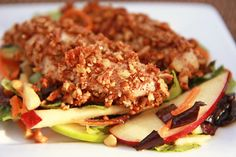 tasty main dishes | Tasty Kitchen Blog: Main Dish Salads (Pecan Encrusted Chicken with ...