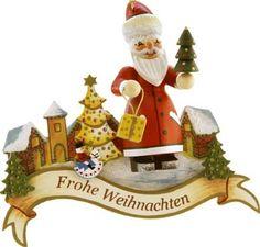 Santa Wishing Frohe Weihnachten -- Käthe Wohlfahrt Ornament