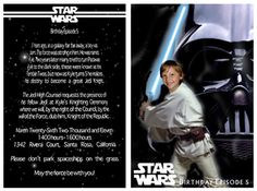 Galaxy far away birthday invitation star wars shutterfly patty i think sam will have to have a star wars party this year stopboris Images