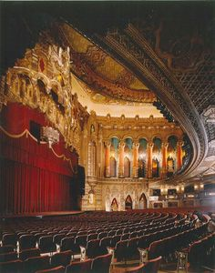 Fox Theatre in Atlanta, GA...this is one of my favorite theatres left in the south. The ceiling alone is unforgettable! Art Magique, Theater, Detroit Michigan, Metro Detroit, Paris Ville, Phantom Of The Opera, Concert Hall, Great Lakes, Architecture