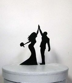 Wedding Cake Topper  High Five 2 by Plasticsmith on Etsy