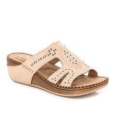 This Beige Embossed Sandal is perfect! #zulilyfinds