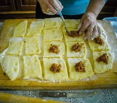 Meat Recipes, Cooking Recipes, Hungarian Recipes, Tortellini, Ravioli, Waffles, Food And Drink, Pie, Pasta