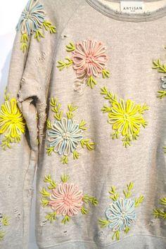 embellished sweatshirt: