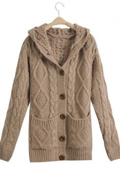 LOVE this Light Coffee Hooded Long Sleeve Cardigan Sweater Coat.  Adding it to the list of MUST HAVES right now !  lol  8)