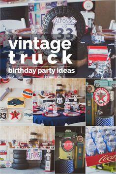 Vintage Truck Boy Birthday Party Ideas