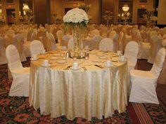 Pretty in white wedding reception decor for a fairy tale wedding.