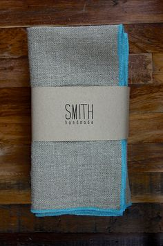 Set of 4 Linen napkins. $40.00, via Etsy.