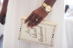 """Loved this clutch for my special day. Kate Spade """"An Ideal Husband"""" clutch."""