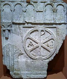 Cancel o pretil de iglesia del siglo VI encontrado en el yacimiento de la villa Fortunatus de Fraga (Zaragoza, Aragón)