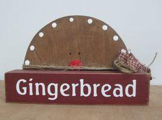 Primitive Gingerbread Christmas Decoration by dlightfuldesigns, $10.00