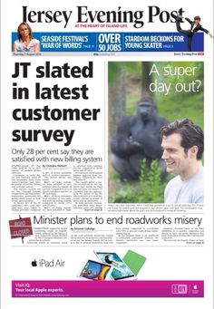 "#HenryCavill makes the front page of his hometown newspaper thanks to his work with the Durrell Wildlife Conservation Trust #Charity  ""@MatthewHotton: Today's #Jersey Evening Post front page with #HenryCavill"" -- Good man. More to come! #manofsteel #superman  #themanfromuncle #batmanvsuperman"