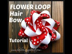 How to Make a Flower Loop Hair Bow